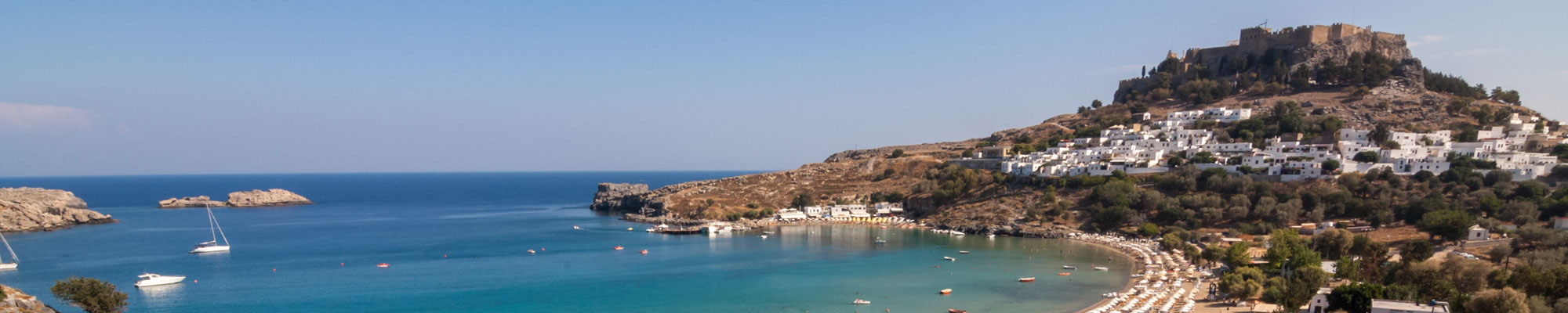 Lindos village and Acropolis
